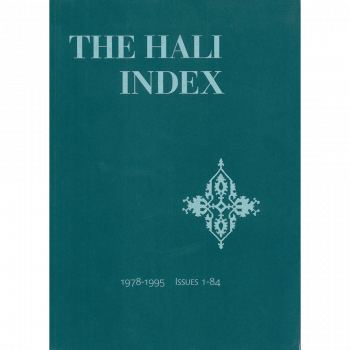 The Hali Index CD Rom 1978-2001